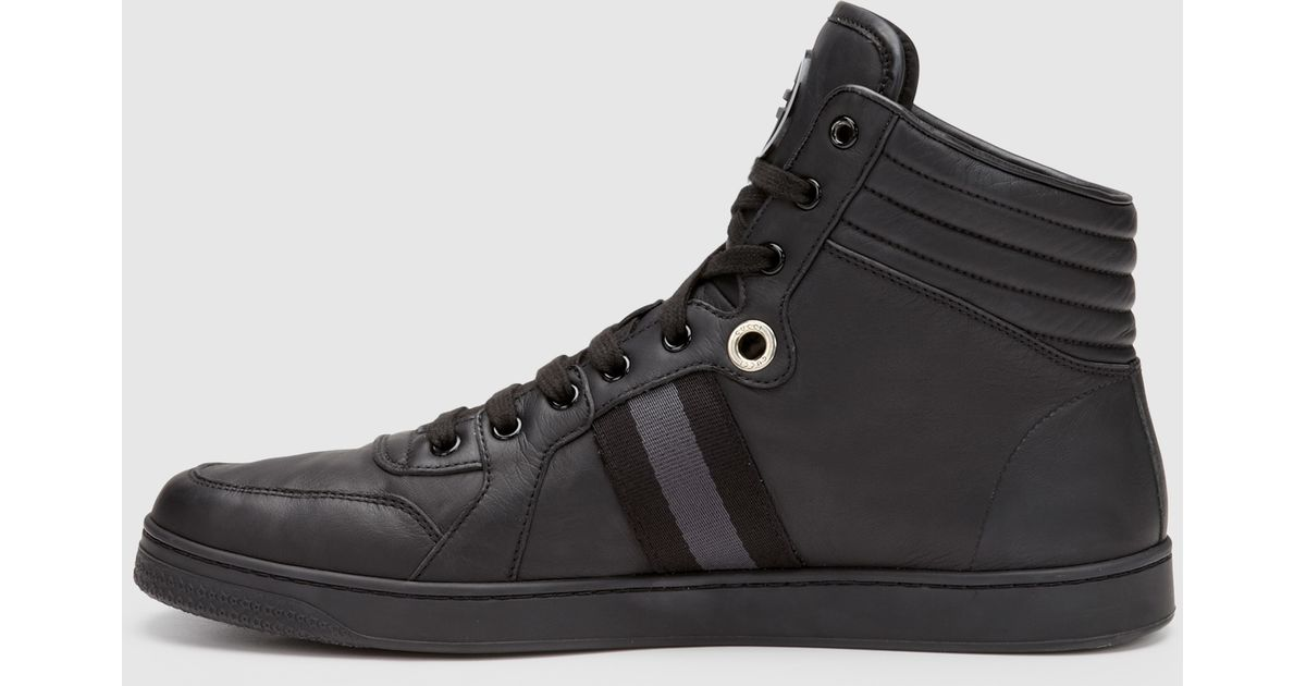 6c7ed705e05 Lyst - Gucci Men s High-top Sneaker From Viaggio Collection in Black for Men
