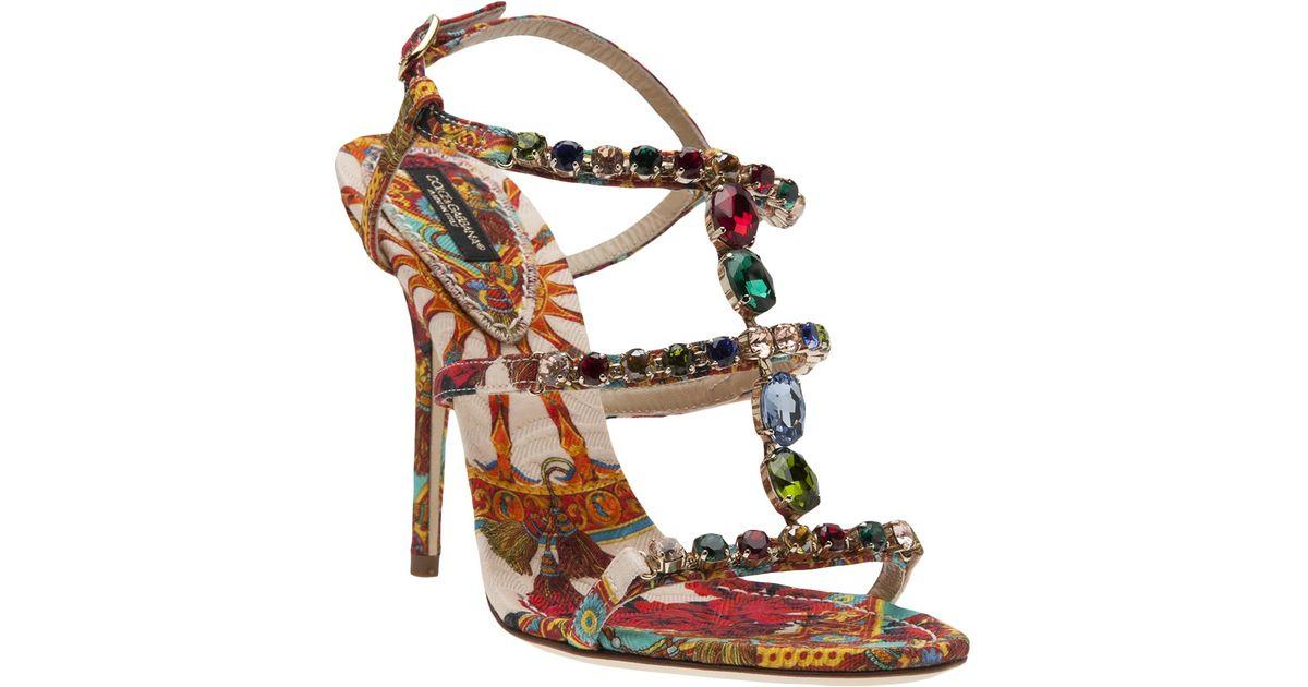23dad3540 Lyst - Dolce   Gabbana Gemstone Sandal
