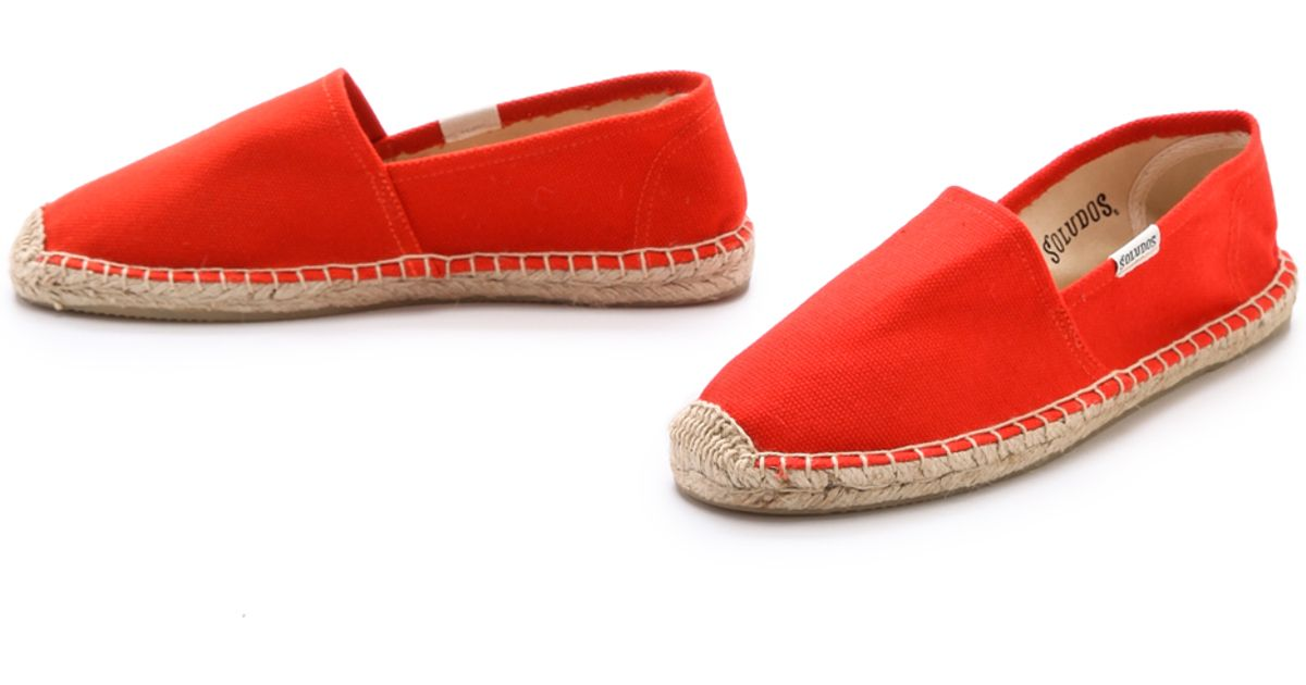 b54bc32bea60 Lyst - Soludos Dali Flat Espadrilles Tangerine Red in Red