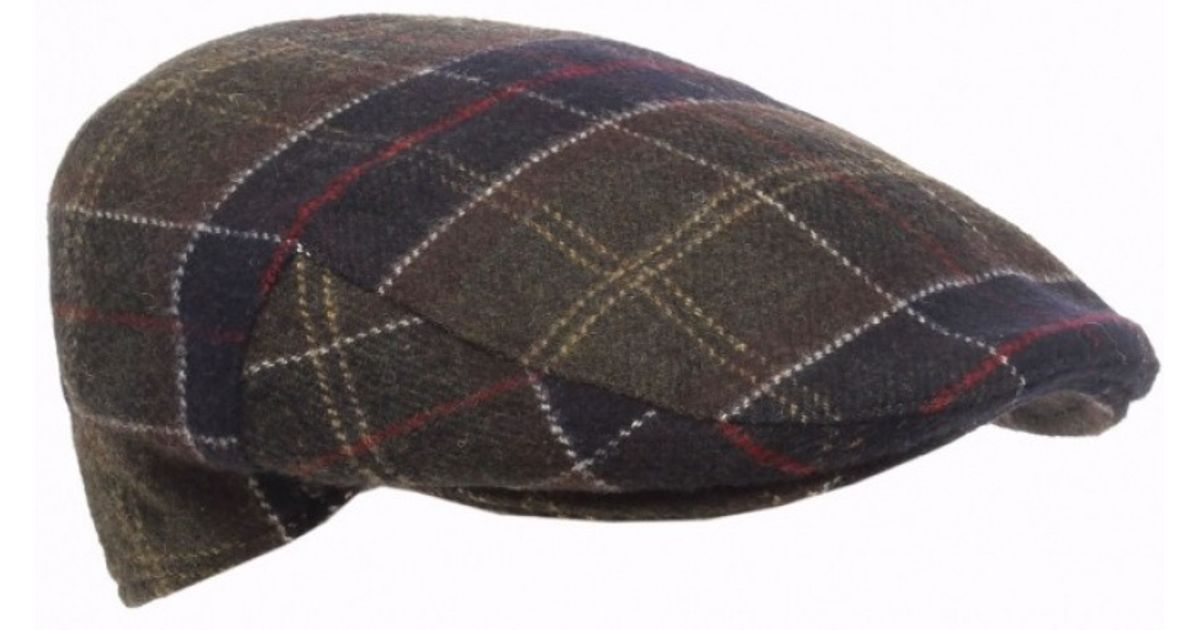 47799ef7f05 Barbour Classic Tartan Flat Cap in Gray for Men - Lyst