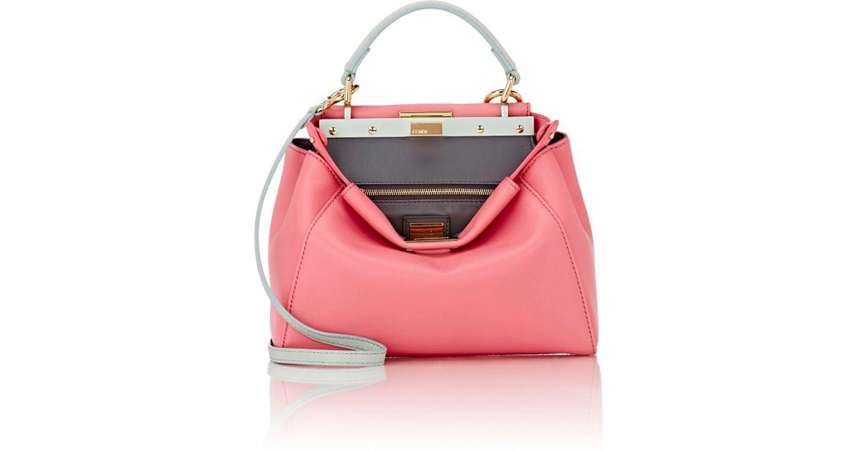 0941c3870d59 Lyst - Fendi Peekaboo Mini in Pink