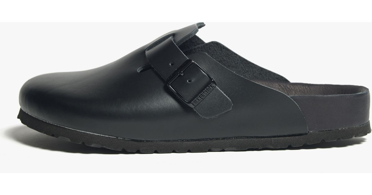 be5e74aa6b Lyst - James Perse Birkenstock Boston Leather Clog - Womens in Black