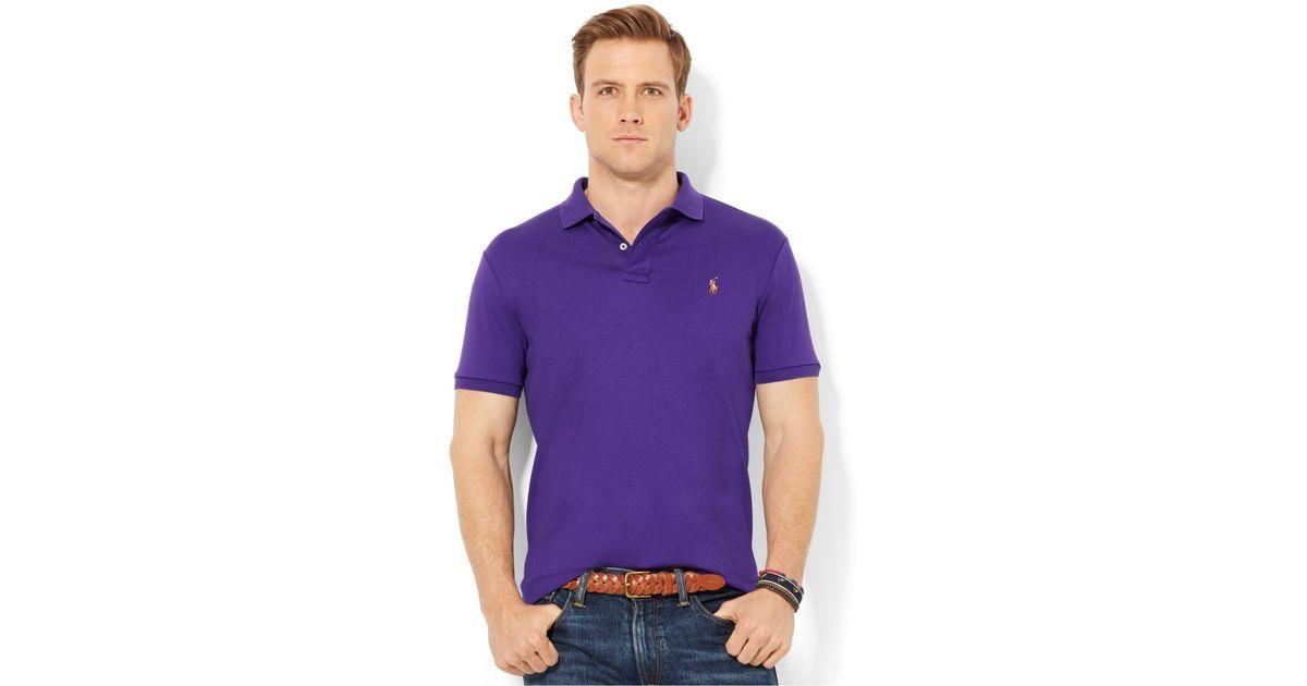 f19e321f Polo Ralph Lauren Pima Soft-Touch Polo in Purple for Men - Lyst
