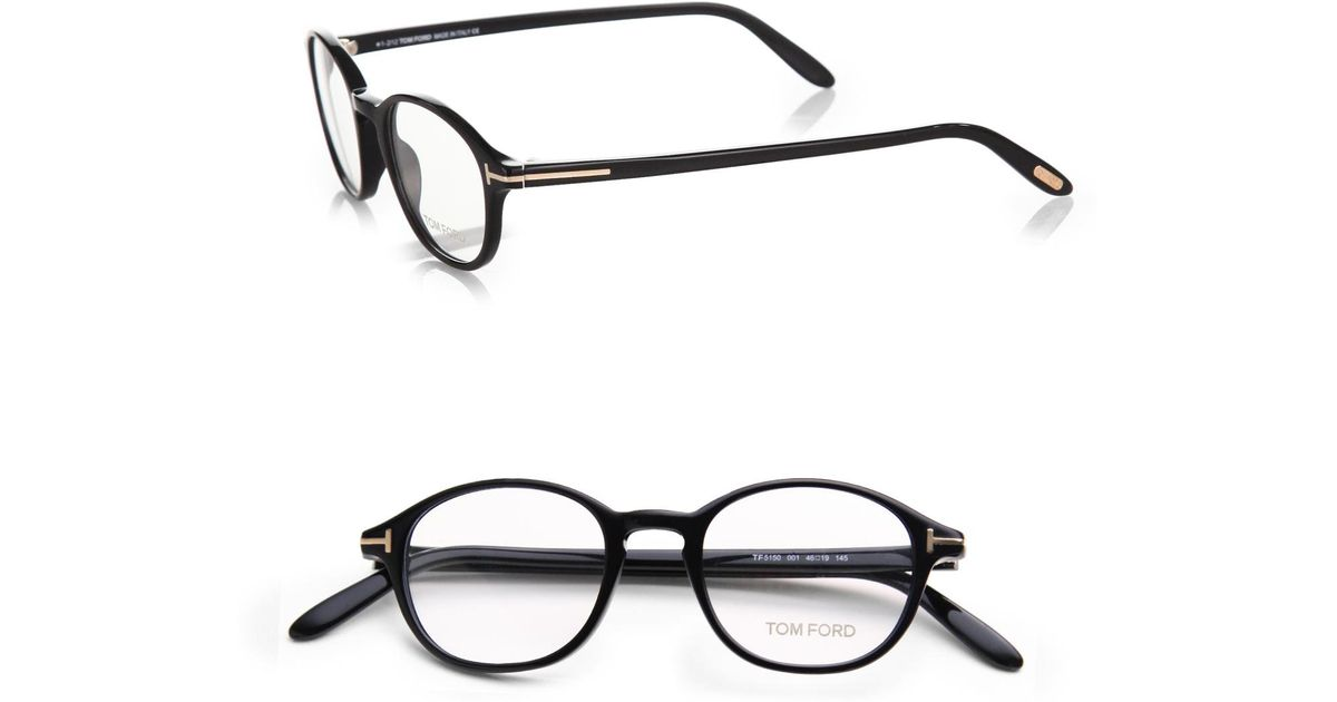 afc2f50a94aa5 Tom Ford 5150 Optical Round Frames in Black for Men - Lyst