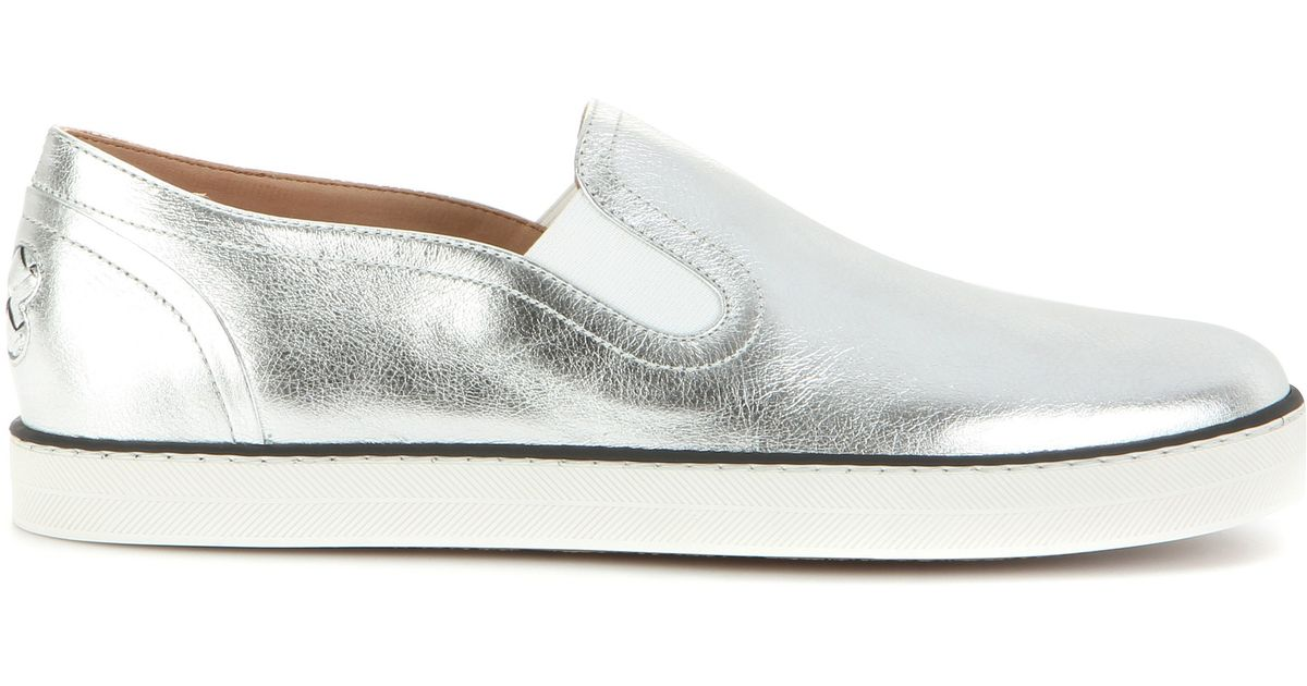 Bottega Veneta Metallic Slip-On Sneakers