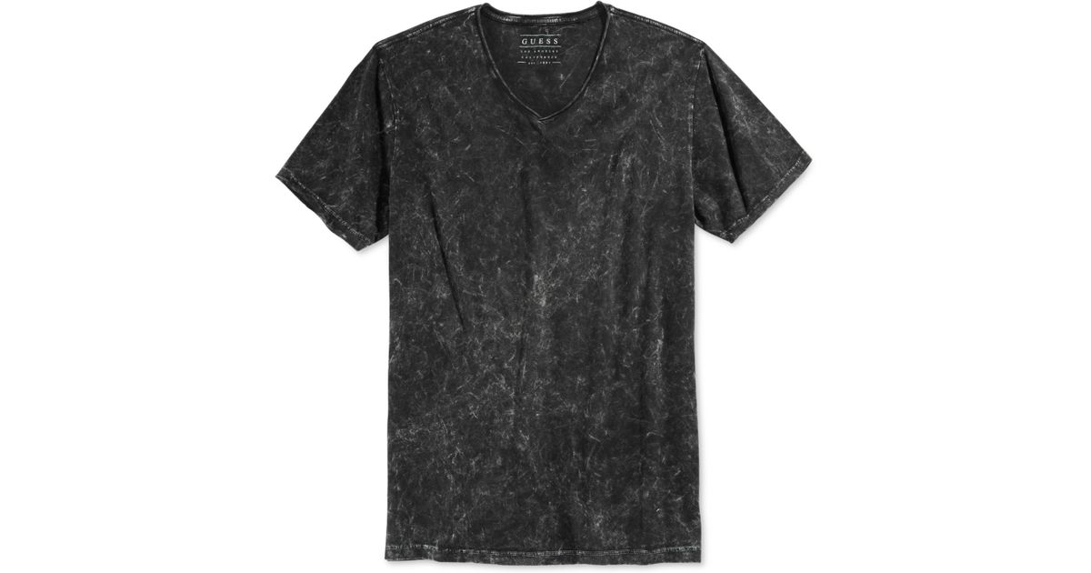 Lyst - Guess Gunnarson Acid-wash T-shirt in Black for Men