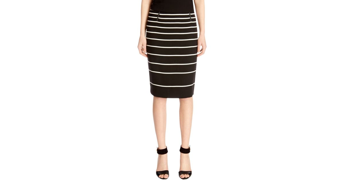 4e2759d6cf32 Oasis Stripe Hattie Mini Skirt in Black - Lyst