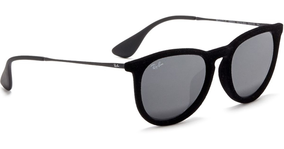 dd9360a18c ... canada ray ban erika velvet wire rim mirror sunglasses in black lyst  5df68 31d9f