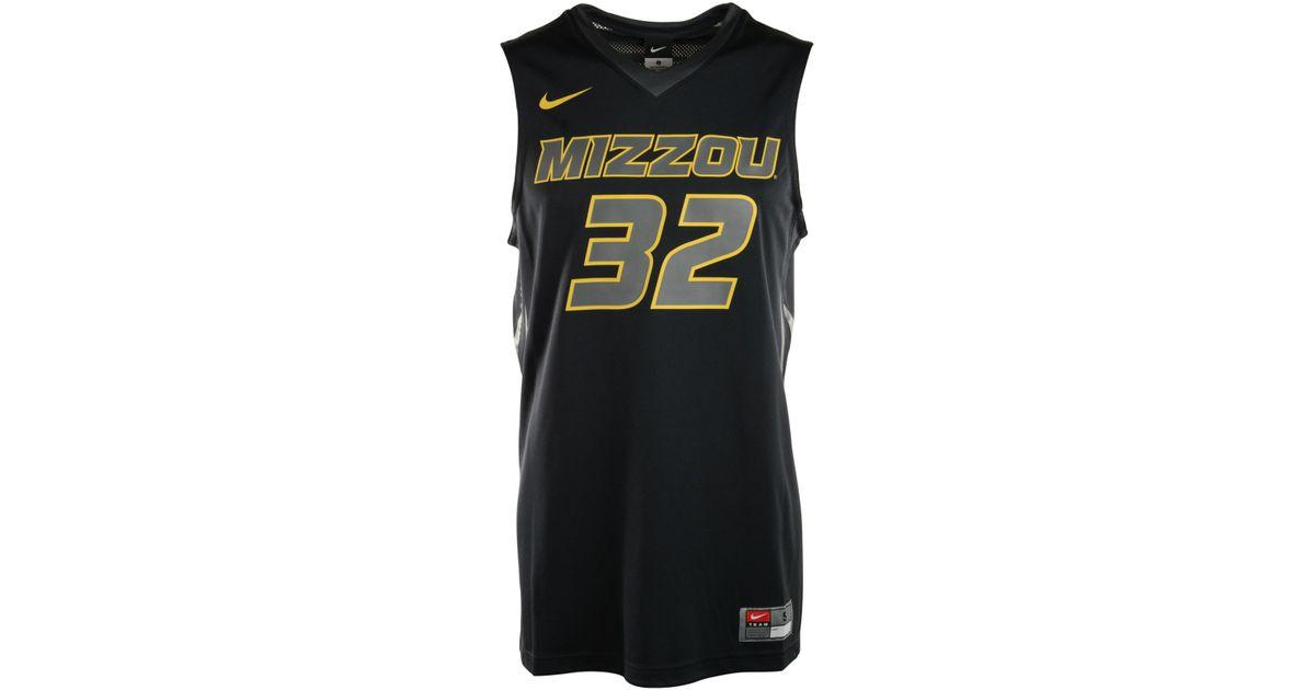e60dfc8fd Nike Men S Missouri Tigers Replica Basketball Jersey in Black for Men - Lyst