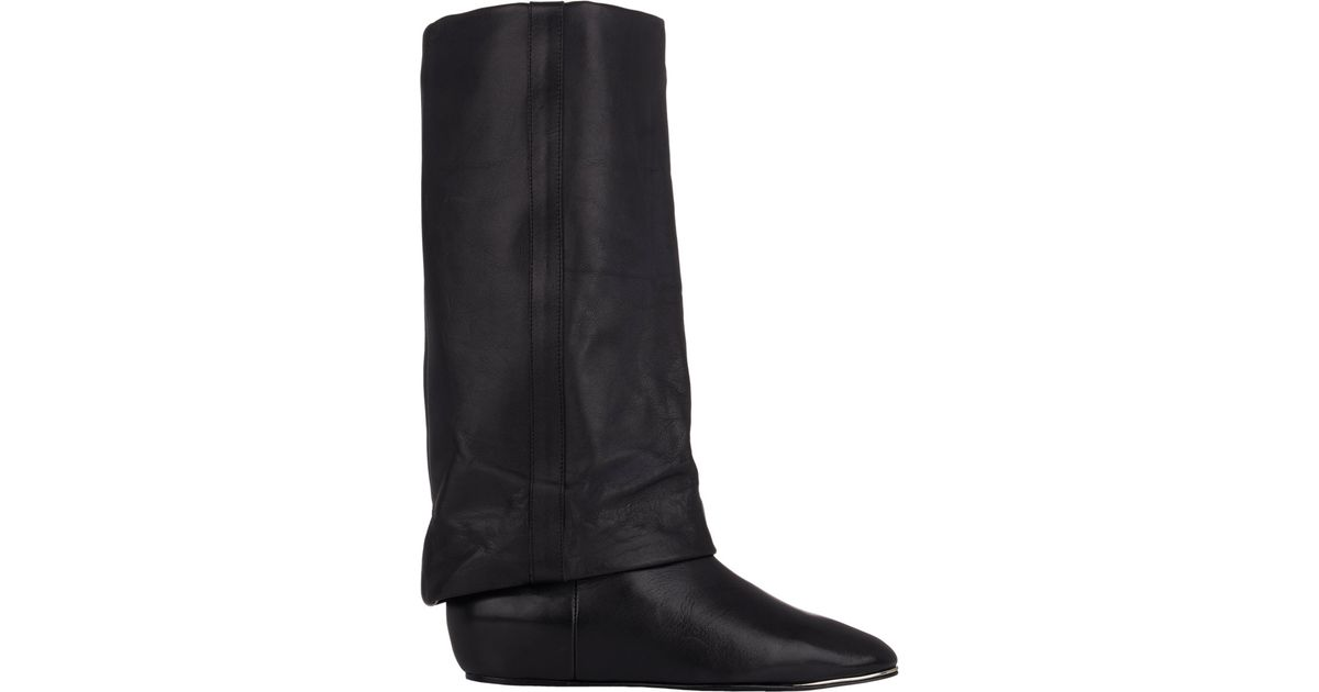 0150dbd38c61 Lyst - See By Chloé Cuffed Wedge Mid-calf Boots in Black