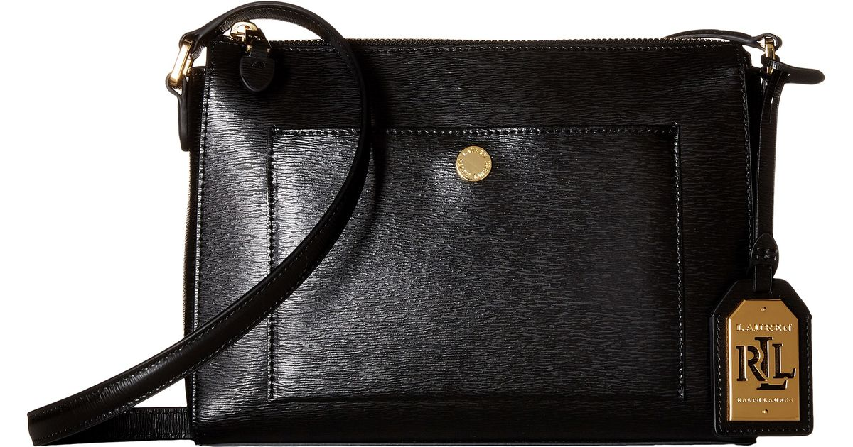 5bb0258d470 Lyst - Lauren by Ralph Lauren Newbury Pocket Crossbody in Black