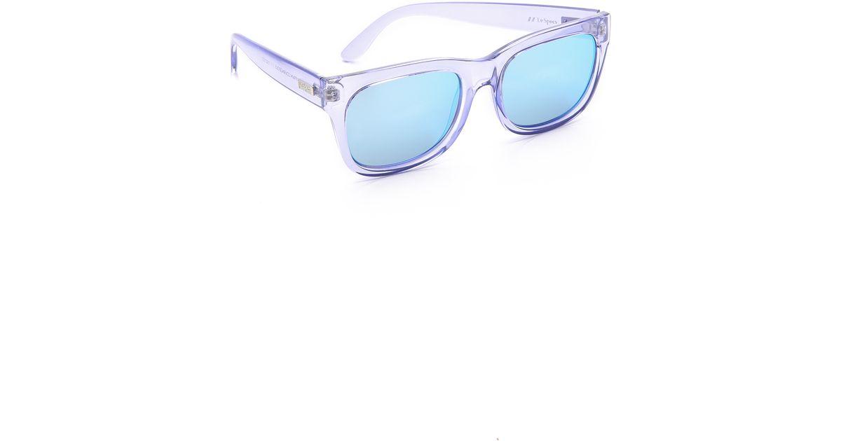 7132c16d77910e Lyst - Le Specs Captain Courageous Sunglasses - Glacier ice Blue Revo  Mirror in Blue