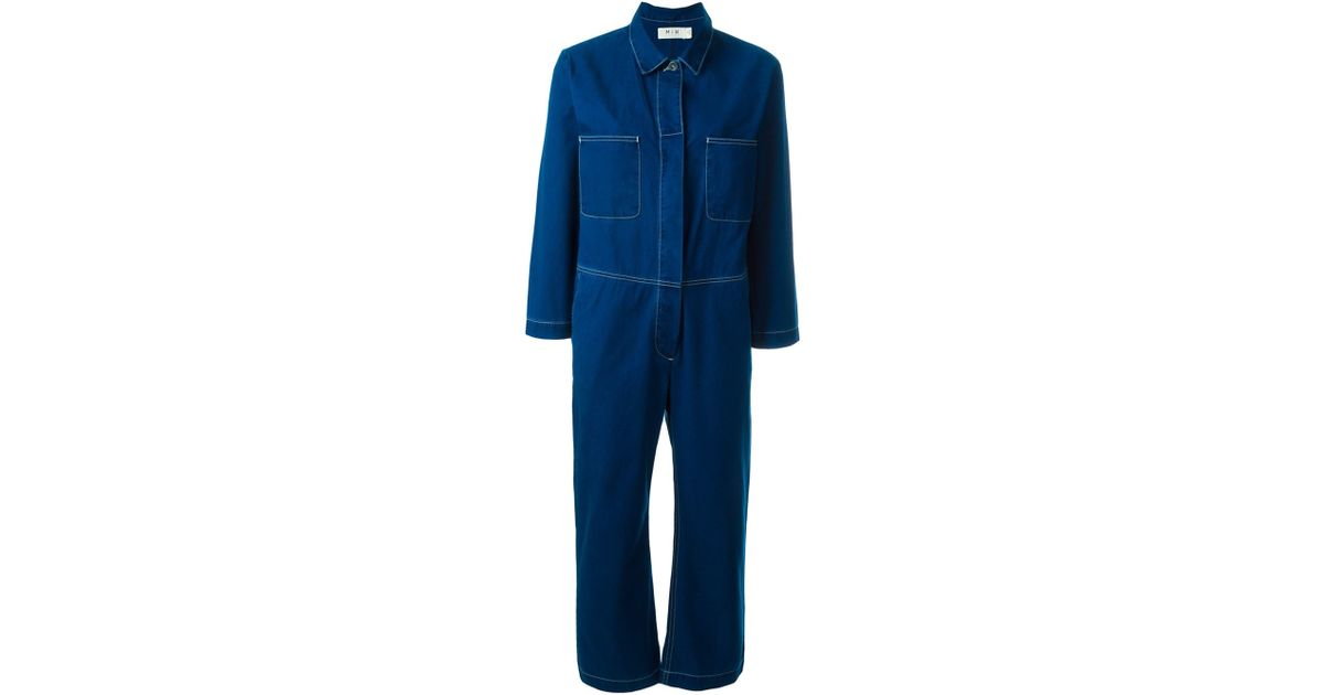 f0d5e920620 Lyst - M.i.h Jeans  arco  Jumpsuit in Blue