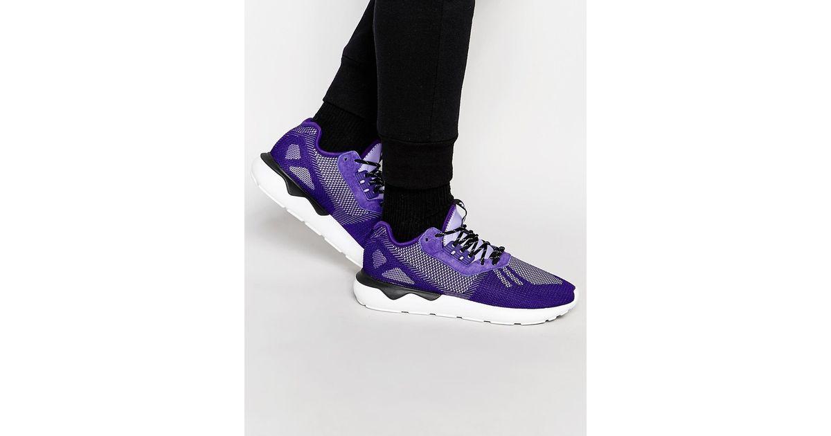 separation shoes b714d 8e841 adidas tubular runner weave purple