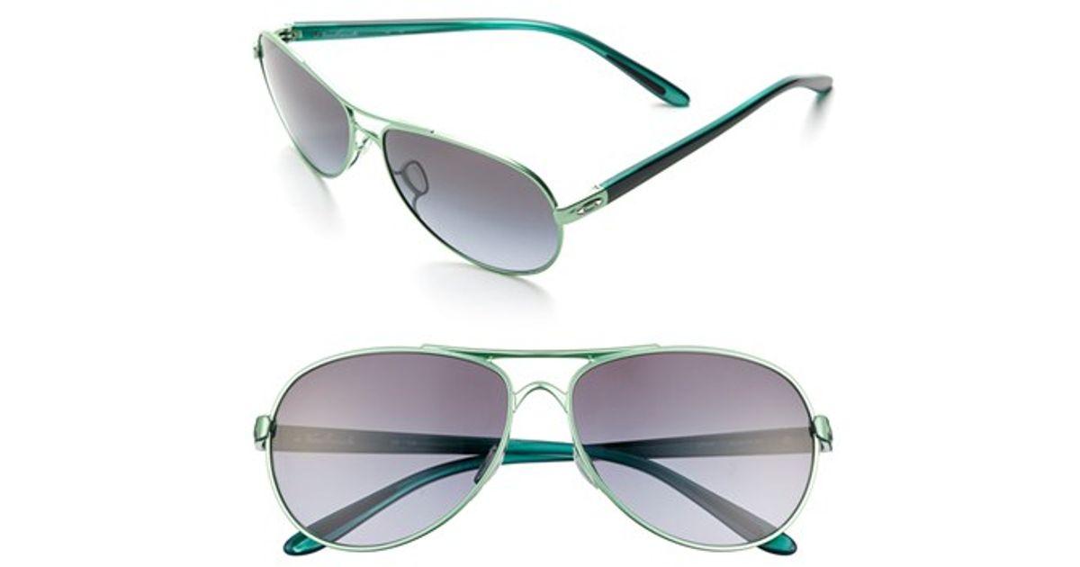 28ca8344f4 Lyst - Oakley  feedback  59mm Sunglasses - Honeydew Pearl  Black Grey in  Black