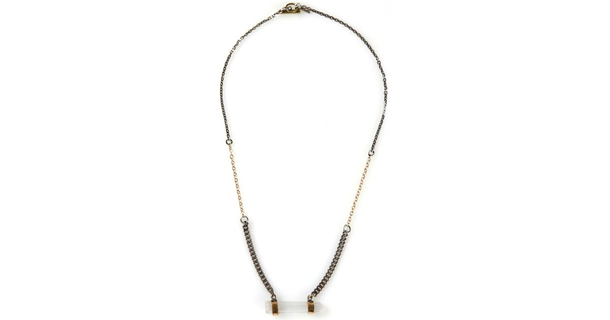 Seraphina Crystal Bar Necklace Creepingthyme Info