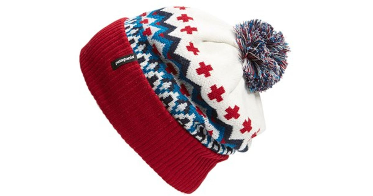 7f6c053aff8 Lyst - Patagonia  powder Town  Beanie in Red for Men