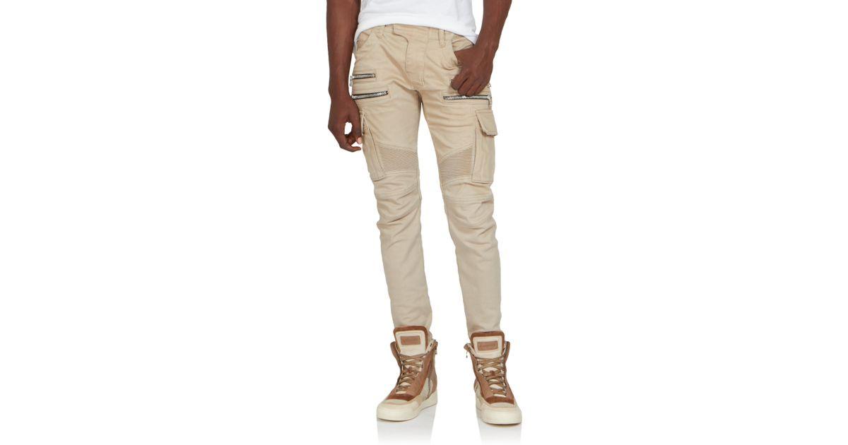 Model  Supply Ralph Lauren Skinny Cargo Pants In Beige Coastal Beige  Lyst
