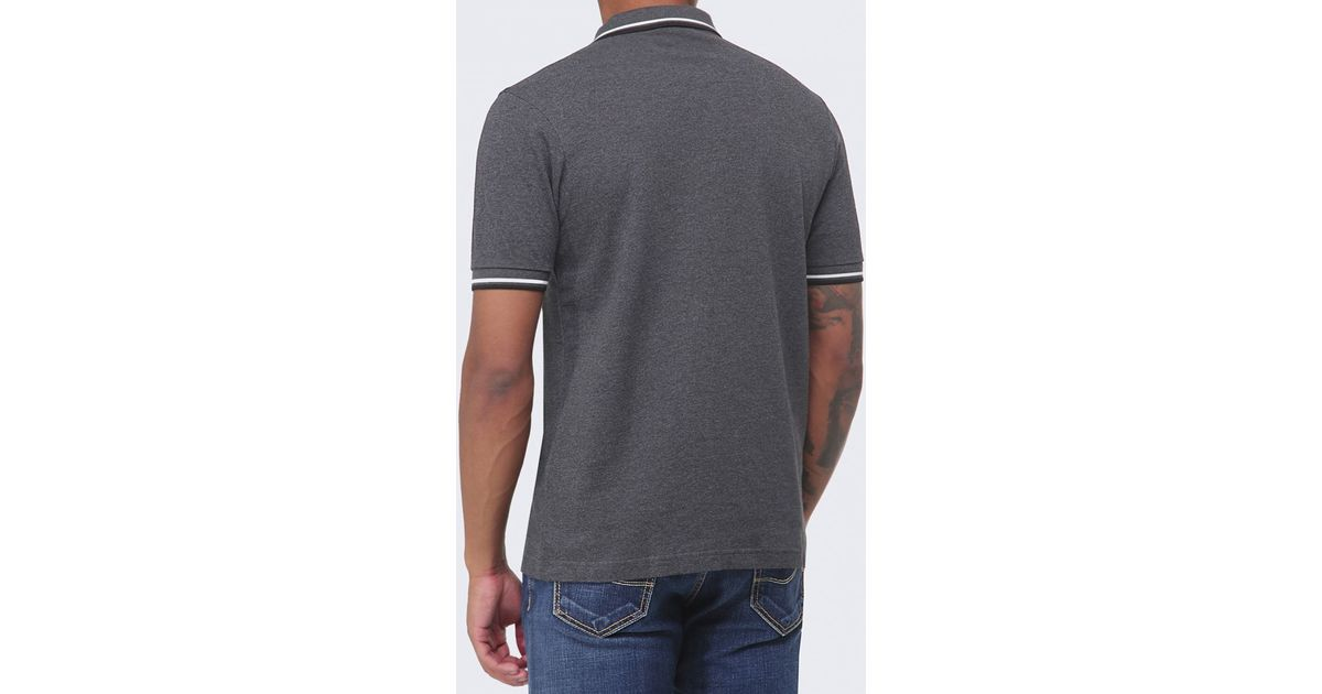 708dbf187 Fred Perry Slim Fit Twin Tipped Polo Shirt in Gray for Men - Lyst