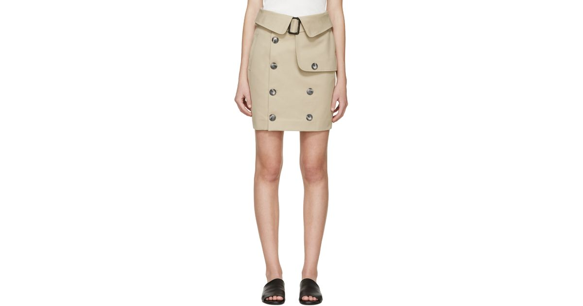 79731816b8 Each x Other Khaki Robert Montgomery Edition Trench Miniskirt in Natural -  Lyst