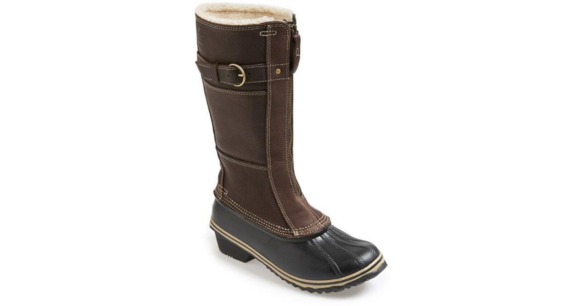 b938a7243 Sorel 'winter Fancy Tall Ii' Waterproof Snow Boot in Brown - Lyst
