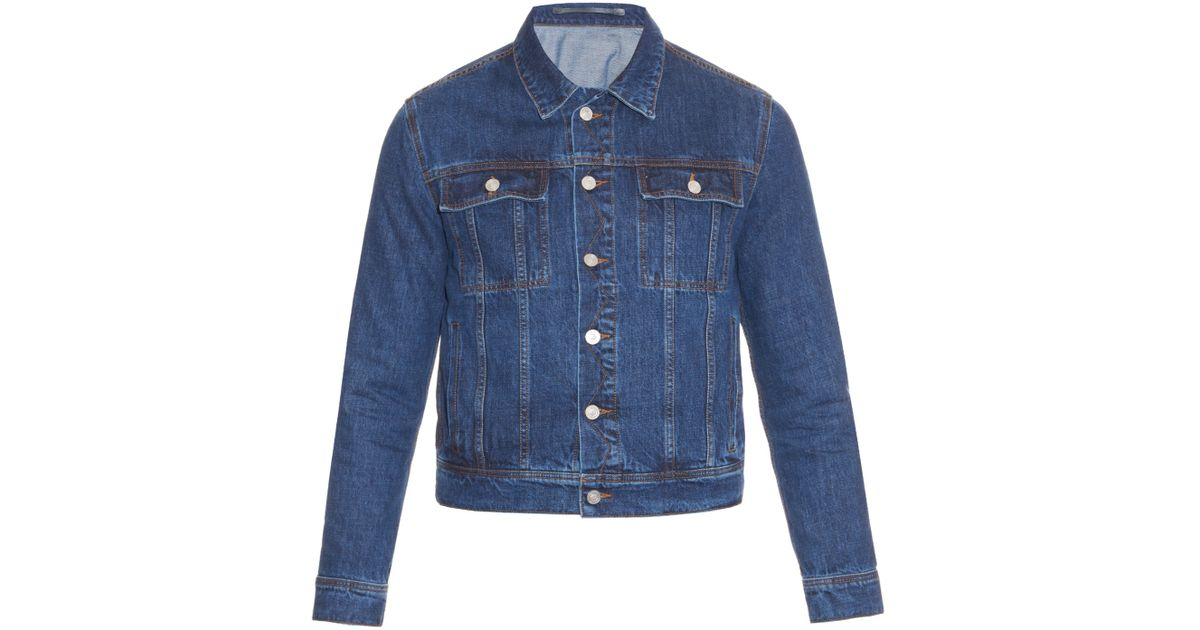 Kenzo Embroideredback Denim Jacket In Blue For Men  Lyst