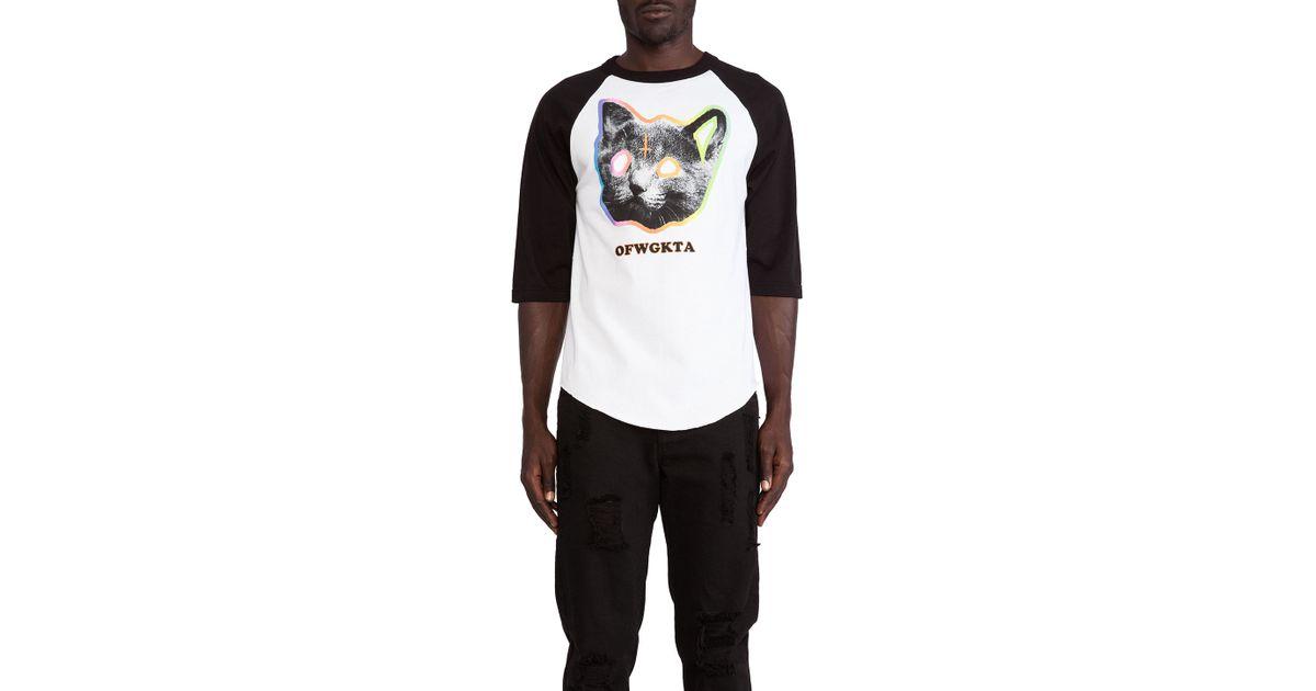 0a387a71944267 Lyst - Odd Future Ofwgkta Tron Cat Raglan Jersey in White for Men