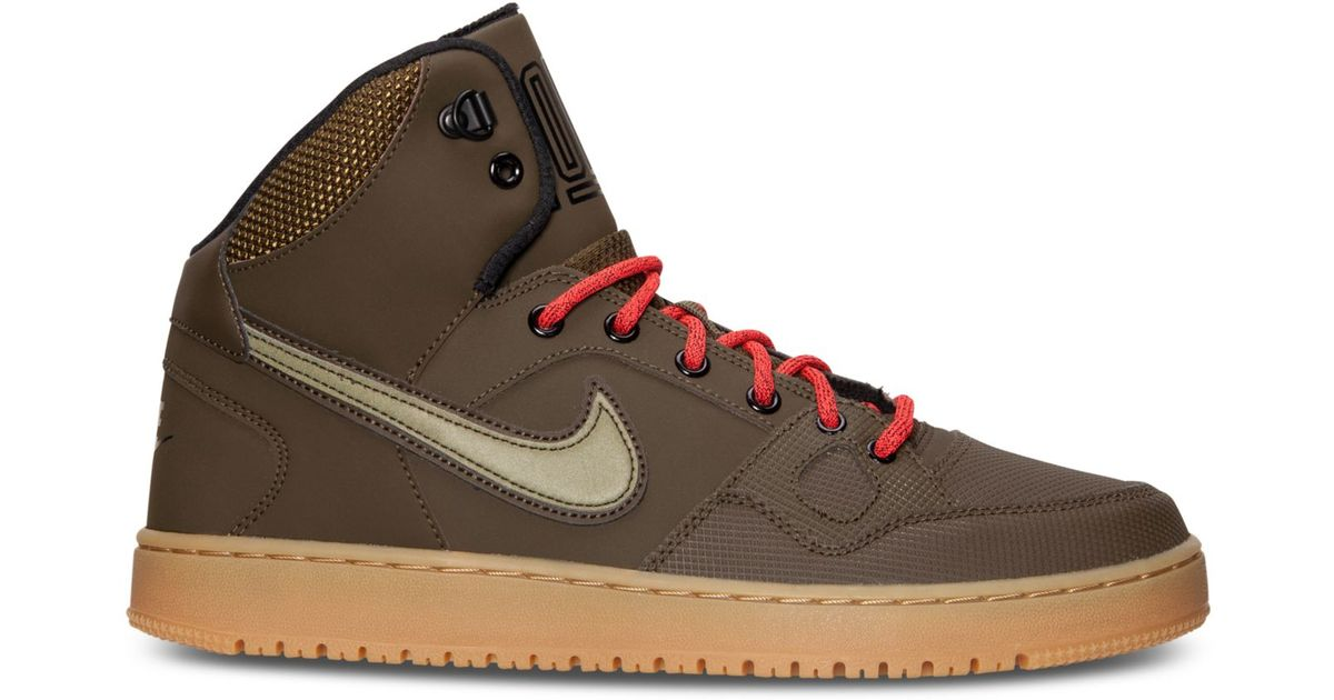 0edb95d21e6 Lyst - Nike Men s Son Of Force Mid Winter Casual Sneakers From Finish Line  in Green for Men