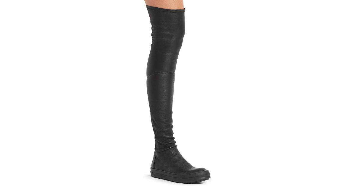 Cheap Low Shipping High Sock leather over-the-knee boots Rick Owens Buy Cheap Best Wholesale Latest Collections  Clearance Discounts IjzAj0