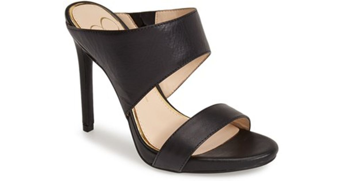 5b2163fe9 Jessica Simpson 'romy' Leather Platform Mule in Black - Lyst