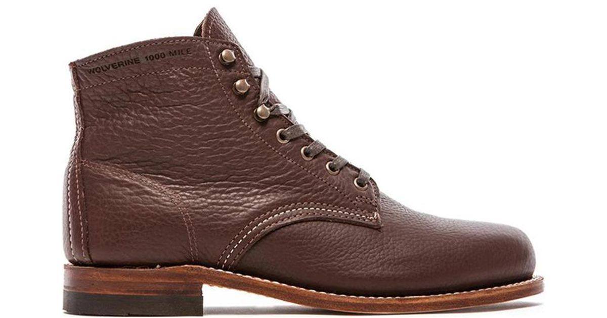 wolverine 1000 mile centennial 6 quot boot in brown lyst
