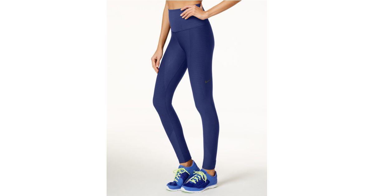 9840164000988 Nike Zoned Sculpt Dri-fit Leggings in Blue - Lyst