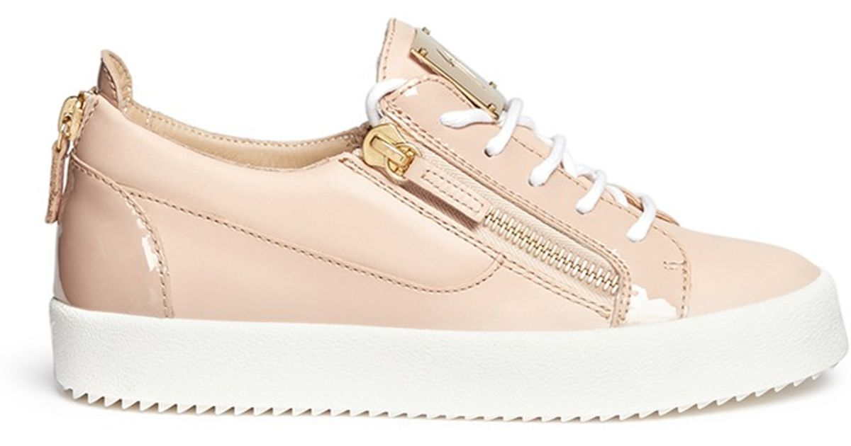 Lyst - Giuseppe Zanotti London Leather Low-Top Sneakers in Pink 2e4e4929194a