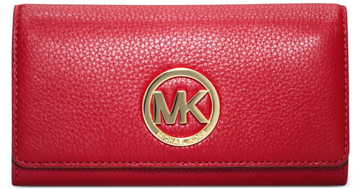 ed9c22674b49 Michael Kors Michael Fulton Carryall Wallet in Red - Lyst
