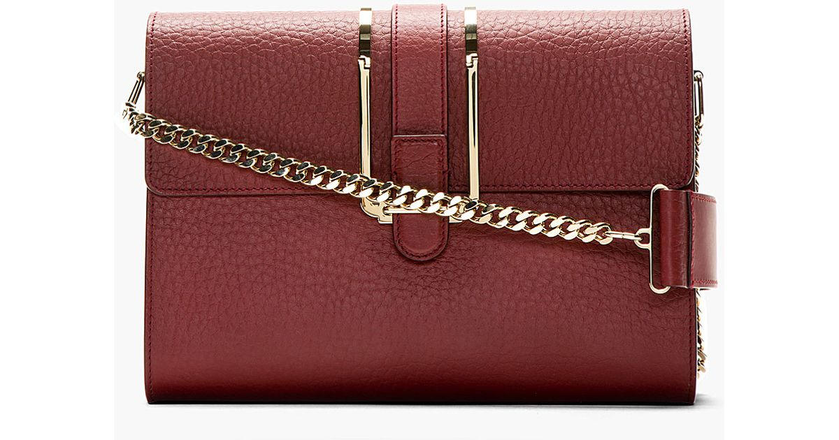 Chlo�� Crimson Calfskin Bronte Medium Shoulder Bag in Red | Lyst