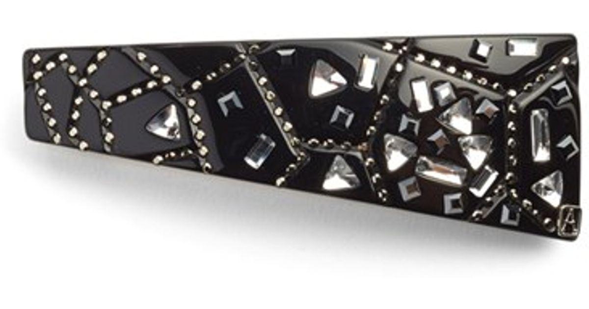 Alexandre de paris 39 miroir brise 39 barrette in black lyst for Miroir venitien paris