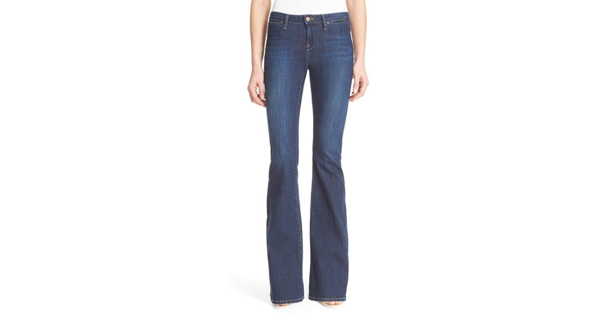 Joie Mid Rise Flare Leg Jeans in Blue | Lyst