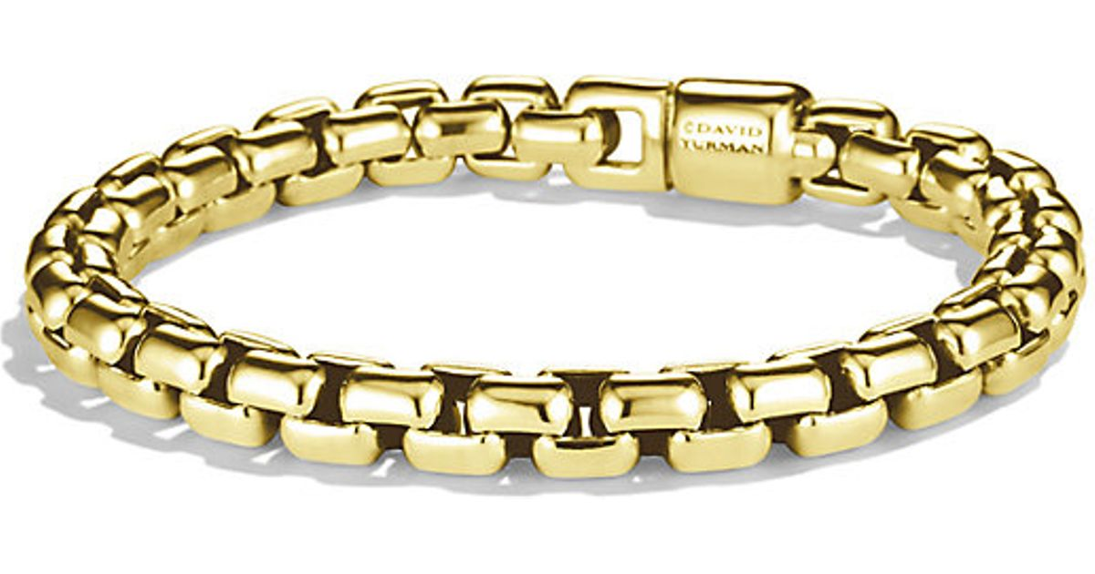 Lyst David Yurman Box Chain Bracelet 8mm in Yellow for Men