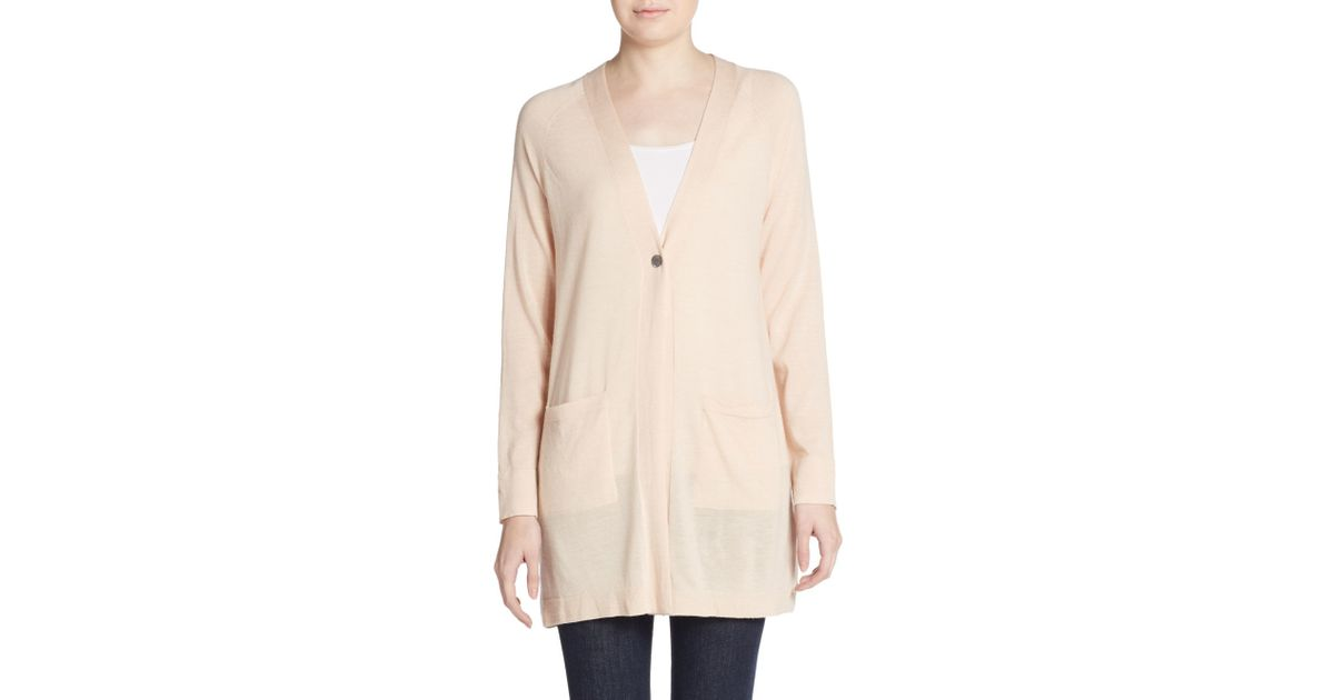 ce479ba897dee Lyst - Eileen Fisher Merino Wool Oversize Cardigan in Natural