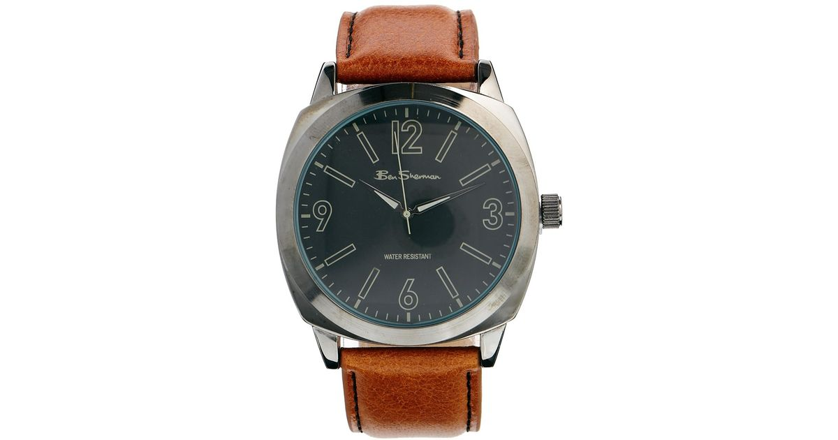 aaf4869f1 Ben Sherman Brown Leather Strap Watch R867 in Brown for Men - Lyst