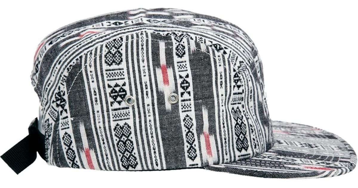 65408126570 Lyst - The Quiet Life Ikat Linear 5 Panel Cap in Black for Men