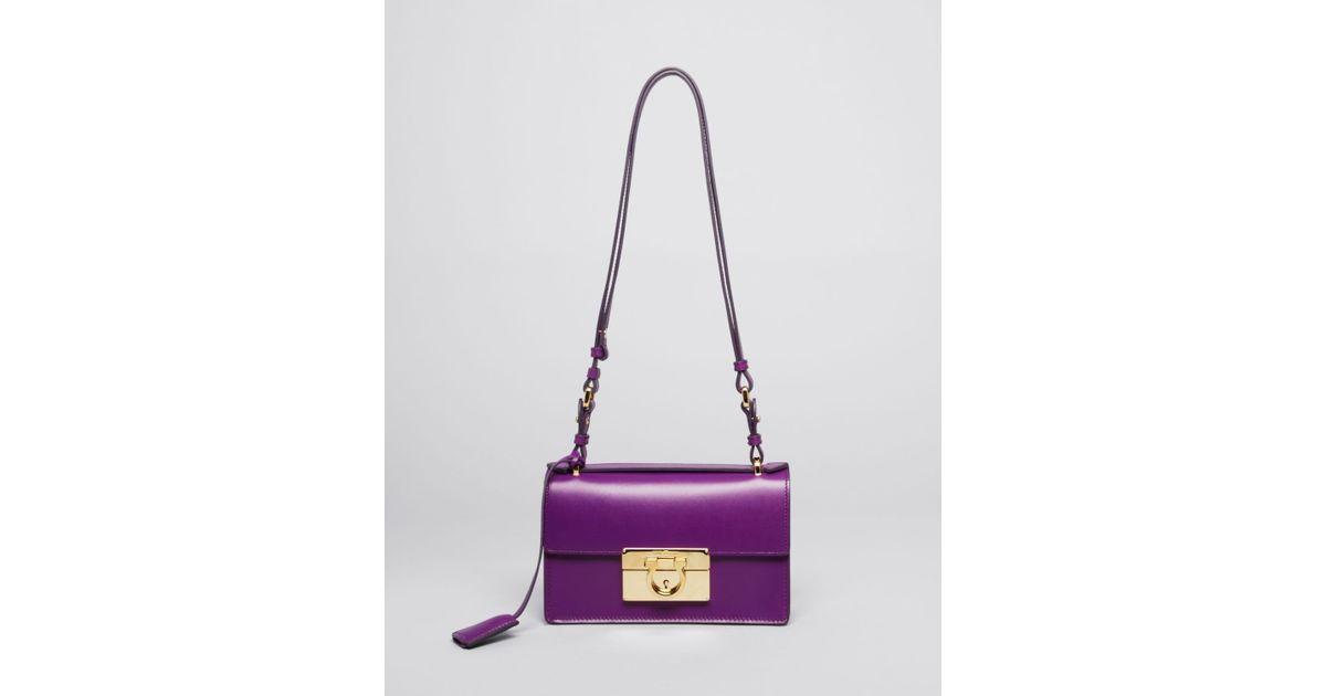 97d7eb959f45 Lyst - Ferragamo Shoulder Bag Aileen Mini in Purple