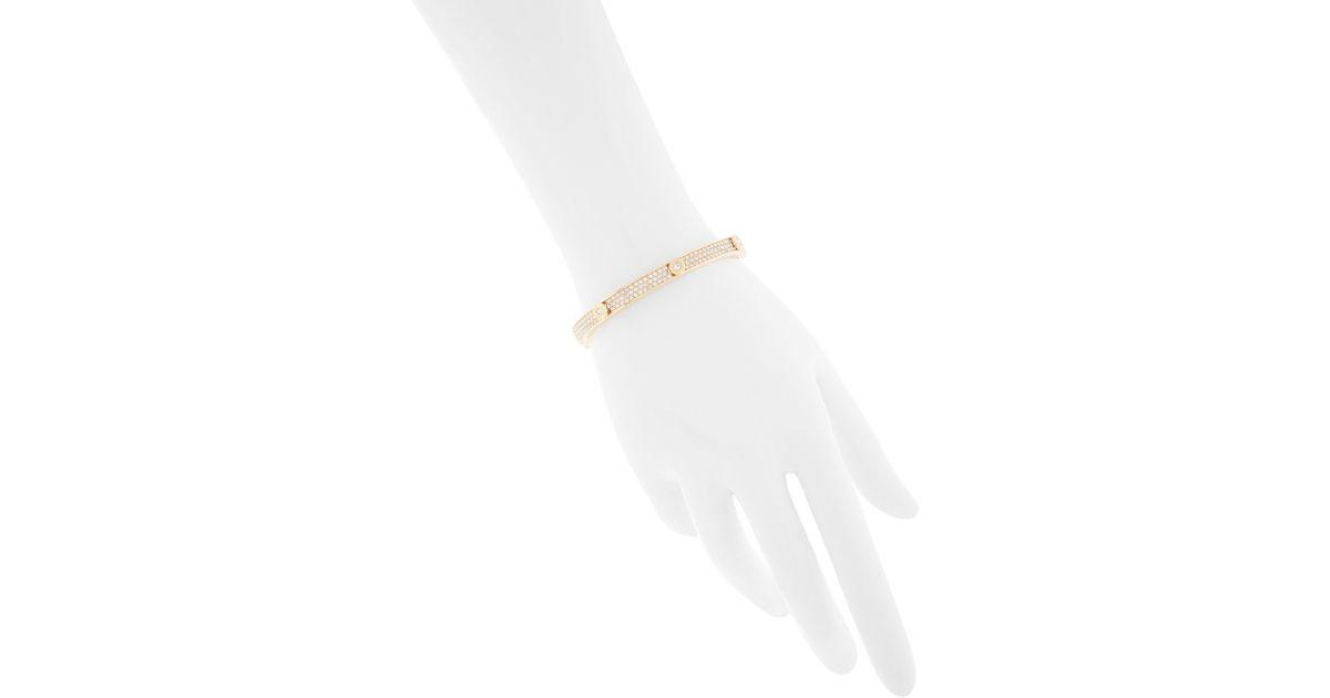Lyst Henri Bendel Miss Bendel Pave Bangle Bracelet In Metallic