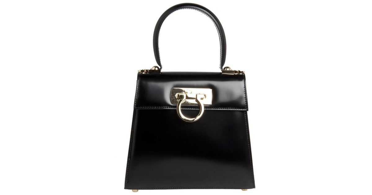 Ferragamo SALVATORE FERRAGAMO Top handle small bag in Black - Lyst bf31e3bfd0