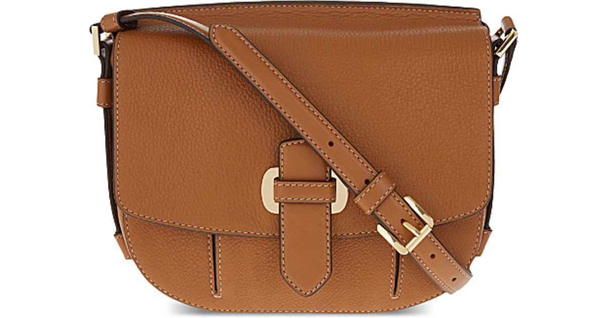 0746f5cfe770 Michael Kors Romy Medium Pebbled Leather Crossbody Bag in Natural - Lyst
