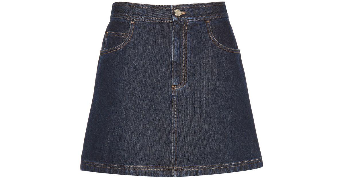 givenchy denim miniskirt in blue lyst
