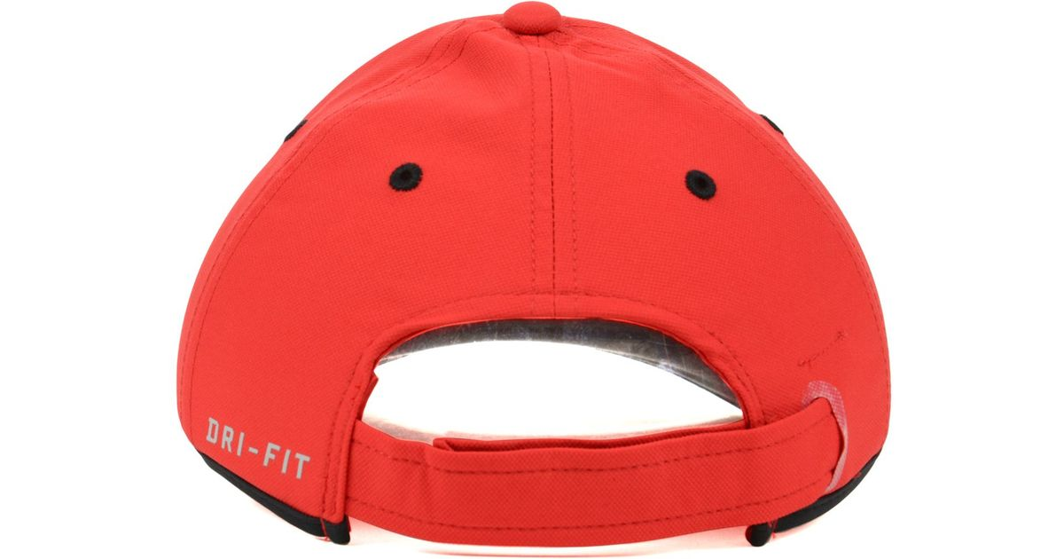 timeless design 41041 d58de Nike Ohio State Buckeyes Coaches Dri-Fit Cap in Red for Men - Lyst