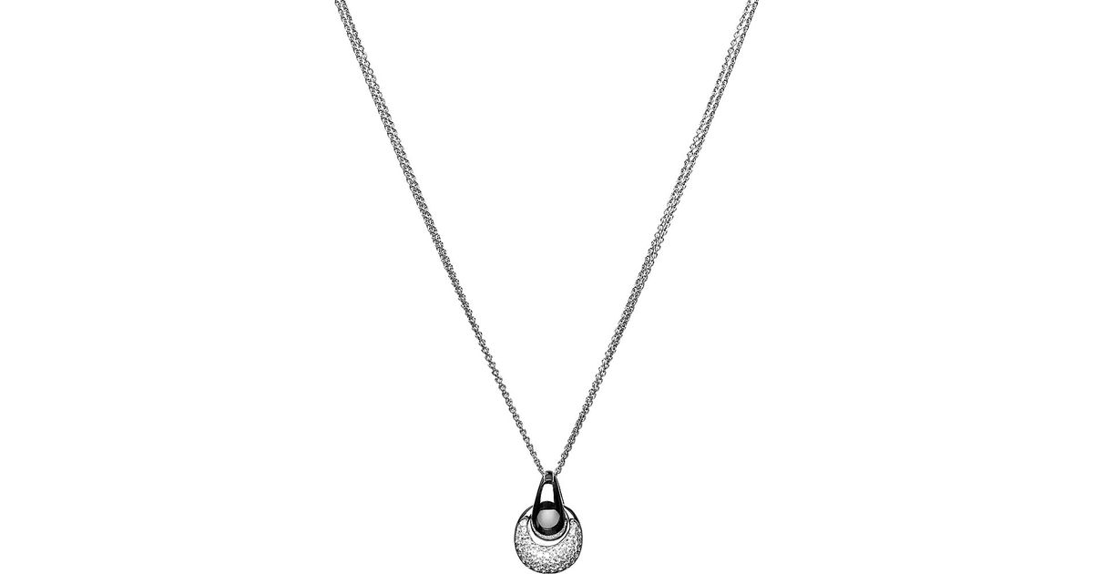 Lyst links of london hope white topaz pendant necklace in metallic aloadofball Images