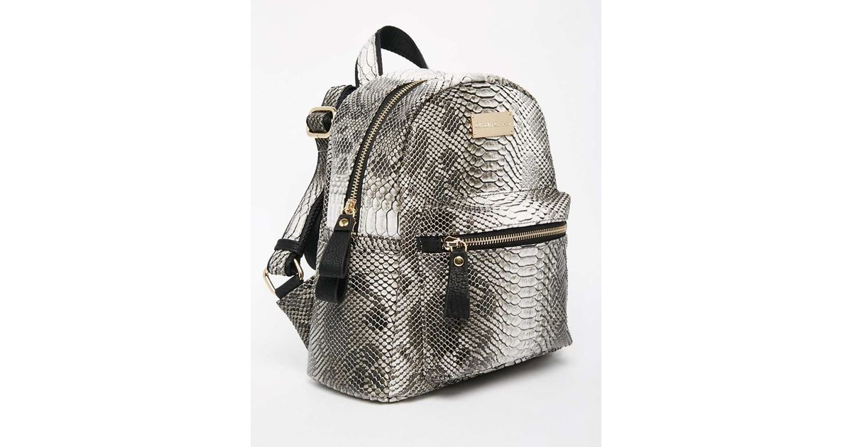 Pastel Grey Mini Backpack - Grey Claudia Canova ZsTTPBKd