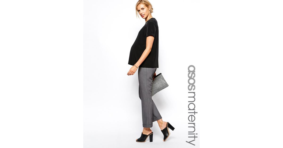 d05950d7f56 Asos Work Wear Ankle Grazer Trouser in Gray - Lyst